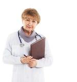 Uśmiechnięta medyczna kobiety lekarka obrazy stock