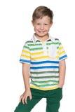 Uśmiechnięta mod potomstw chłopiec Obraz Royalty Free