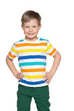 Uśmiechnięta mod potomstw chłopiec Obrazy Royalty Free