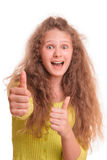 Uśmiechnięta nastoletnia dziewczyna obraz stock