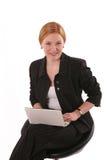 uśmiechnięta notatnik kobieta Obraz Royalty Free