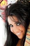 uśmiechnięta portret czarownica Zdjęcie Stock