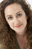uśmiechnięta portret kobieta Obraz Stock