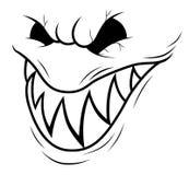 Uśmiechnięta potwór twarz fotografia stock