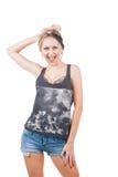 Uśmiechnięta Rockowa kobieta Obraz Royalty Free