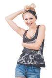 Uśmiechnięta Rockowa kobieta Obrazy Royalty Free