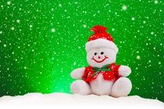Uśmiechnięta Rodzajowa Bożenarodzeniowa bałwan zabawka Obraz Royalty Free