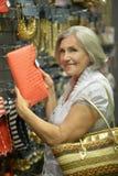 Uśmiechnięta stara dama Fotografia Royalty Free