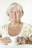 Uśmiechnięta starsza dama Obrazy Royalty Free