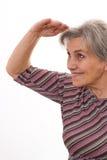Uśmiechnięta starsza kobieta zdjęcia stock
