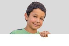 Uśmiechnięta szczęśliwa twarz dziecko chłopiec Zdjęcia Royalty Free