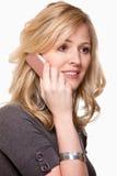 uśmiechnięta telefon komórkowy kobieta Zdjęcie Stock