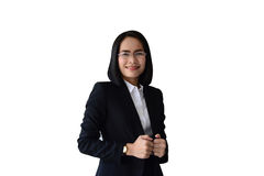 uśmiechnięta twarz azjatykcia biznesowa kobieta Zdjęcia Stock
