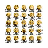 uśmiechnięta twarz gromadzenia danych Zdjęcie Stock