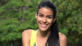 Uśmiechnięta twarz Nastoletnia Latina kobieta Fotografia Royalty Free