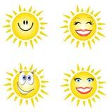 uśmiechnięta twarz słoneczko ilustracji