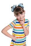 Uśmiechnięta urocza mała dziewczynka fotografia stock