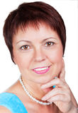 Uśmiechnięta w średnim wieku i piękna kobieta Fotografia Stock