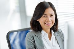 Uśmiechnięta Wietnamska biznesowa dama zdjęcie royalty free