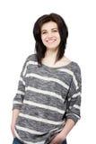 Uśmiechnięte kobiety odizolowywać na białym tle. Obraz Royalty Free