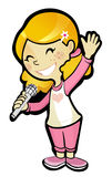 Uśmiechnięte piosenkarz dziewczyny grafika Zdjęcie Royalty Free
