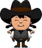 Uśmiechniętej kreskówki Mały Gunfighter royalty ilustracja