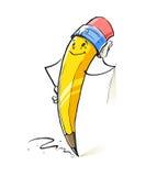 Uśmiechniętej kreskówki ołowiany ołówek Zdjęcia Stock