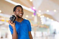 Uśmiechnięty afro amerykański mężczyzna Obrazy Stock