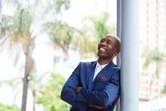 Uśmiechnięty afrykański męski dyrektor wykonawczy Obraz Royalty Free