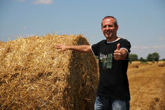 Uśmiechnięty Agriculturist Pokazuje aprobaty Obrazy Stock