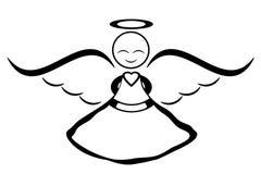 Uśmiechnięty anioł royalty ilustracja