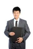 Uśmiechnięty azjatykci biznesmen Obraz Stock