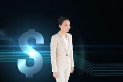 Uśmiechnięty azjatykci bizneswomanu odprowadzenie Zdjęcie Stock