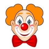 Uśmiechnięty błazen z czerwonym łękiem Zdjęcie Stock