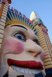 Uśmiechnięty błazenu wejście, Luna park, Sydney, Astralia Zdjęcie Royalty Free