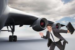 Uśmiechnięty biznesmen w hury Fotografia Stock