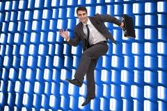 Uśmiechnięty biznesmen w hury Zdjęcie Stock