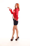 Uśmiechnięty biznesowej kobiety target779_0_ Obraz Stock