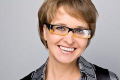Uśmiechnięty biznesowej kobiety zakończenie Obraz Royalty Free