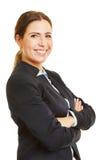 Uśmiechnięty bizneswoman od strony fotografia royalty free