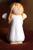 Uśmiechnięty Bożenarodzeniowy anioł Zdjęcie Stock