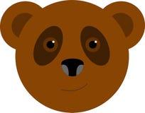 Uśmiechnięty brown niedźwiedzia logo Obrazy Royalty Free