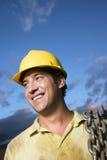uśmiechnięty budowa pracownik Zdjęcia Stock