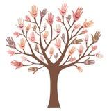 Uśmiechnięty drzewo ilustracja wektor