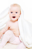 Uśmiechnięty dziecko z dalekomorskimi oczami obrazy royalty free