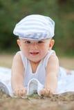 Uśmiechnięty dziecko z kapeluszem Obraz Royalty Free