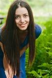 Uśmiechnięty dziewczyny lata portret Zdjęcia Stock