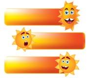 uśmiechnięty guzika słońce Zdjęcia Stock