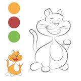 Uśmiechnięty kot dla barwić Obraz Royalty Free