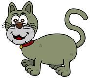 Uśmiechnięty kot na profilu Obrazy Stock